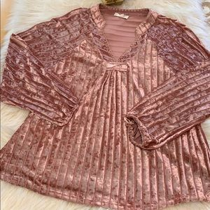 Loose fitting crushed velvet top